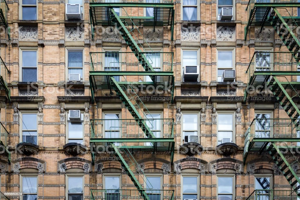 city building windows. Windows And Fire Escapes On An Old Building In Manhattan  New York City Royalty And Fire Escapes On An Old Building In