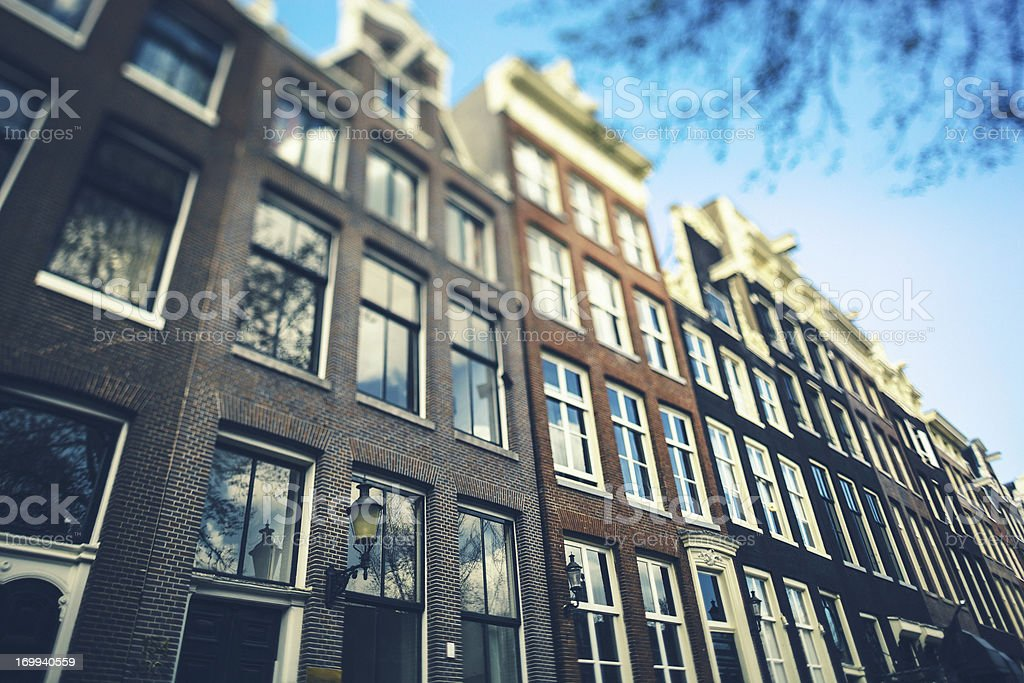 Windows and Houses, Architecture in Amsterdam royalty-free stock photo