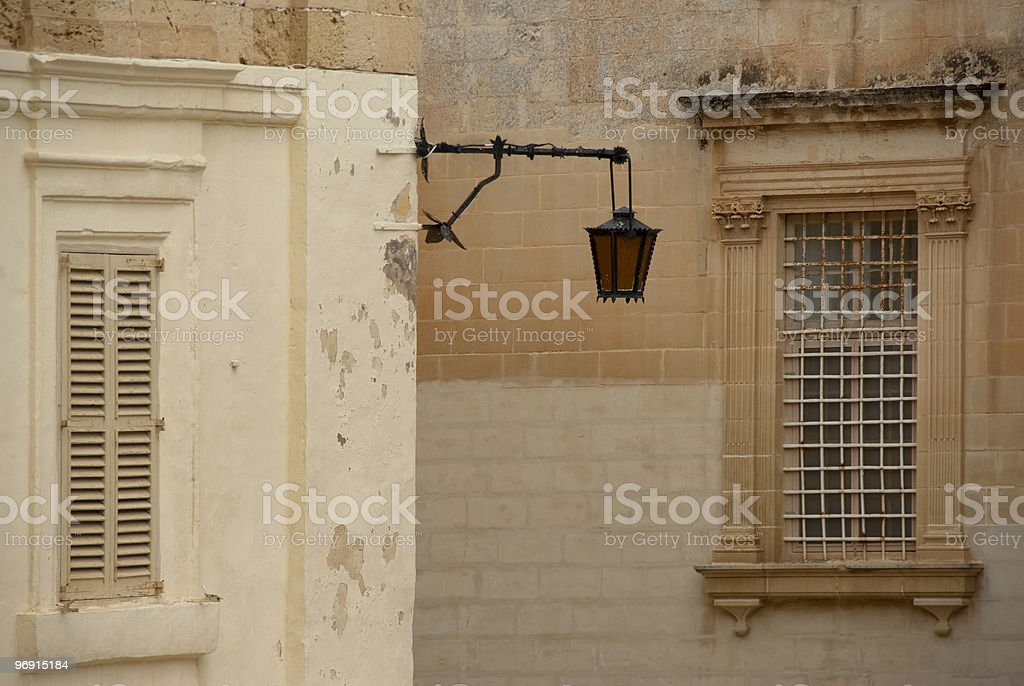 Windows and lantern royalty-free stock photo