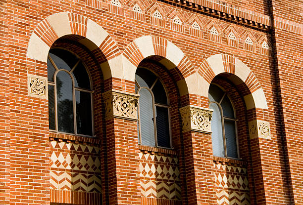 Windows at a building on college campus Windows at a building on college campus. ucla stock pictures, royalty-free photos & images