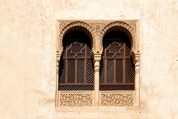 Windows at the Alhambra  palace of charles v stock pictures, royalty-free photos & images