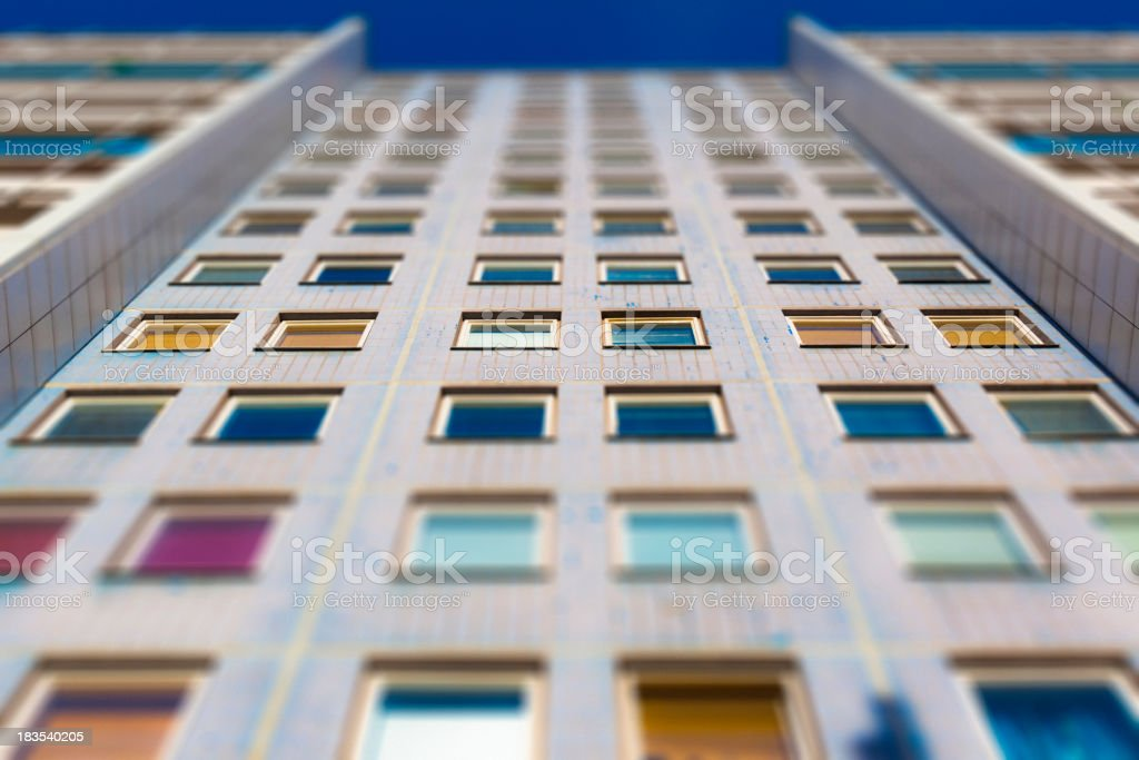 Windows Building in Perspective Architecture Tilt Shift Nobody royalty-free stock photo
