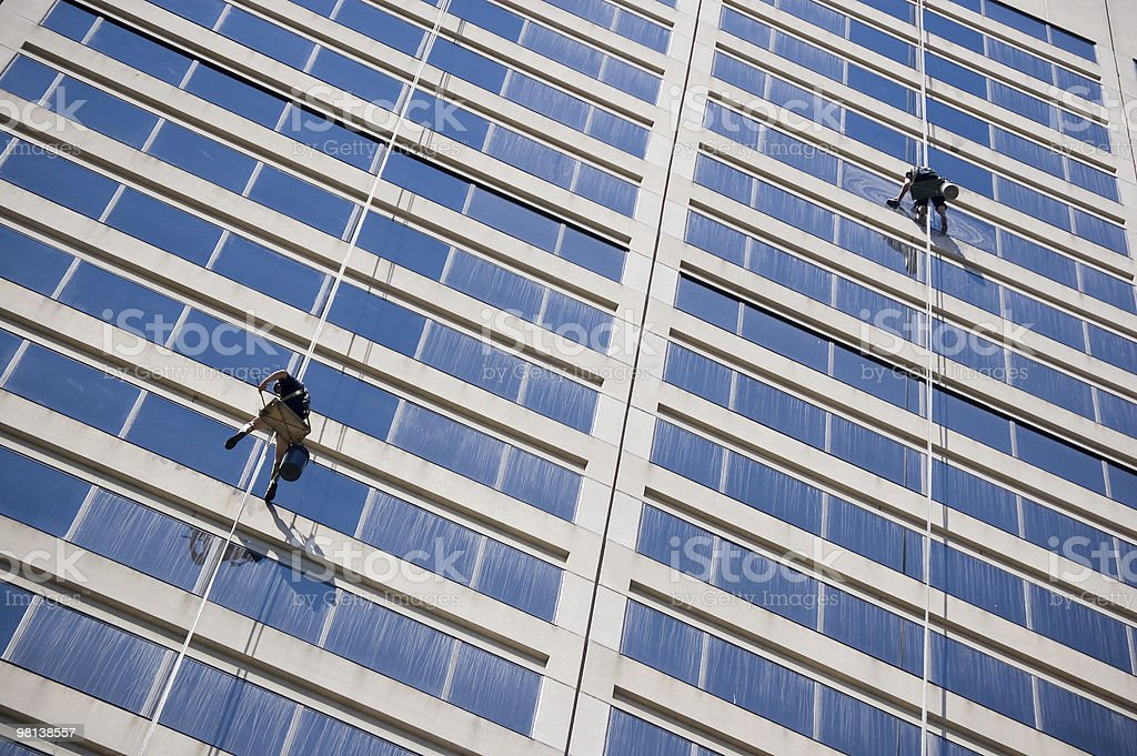 Windows cleaners royalty-free stock photo