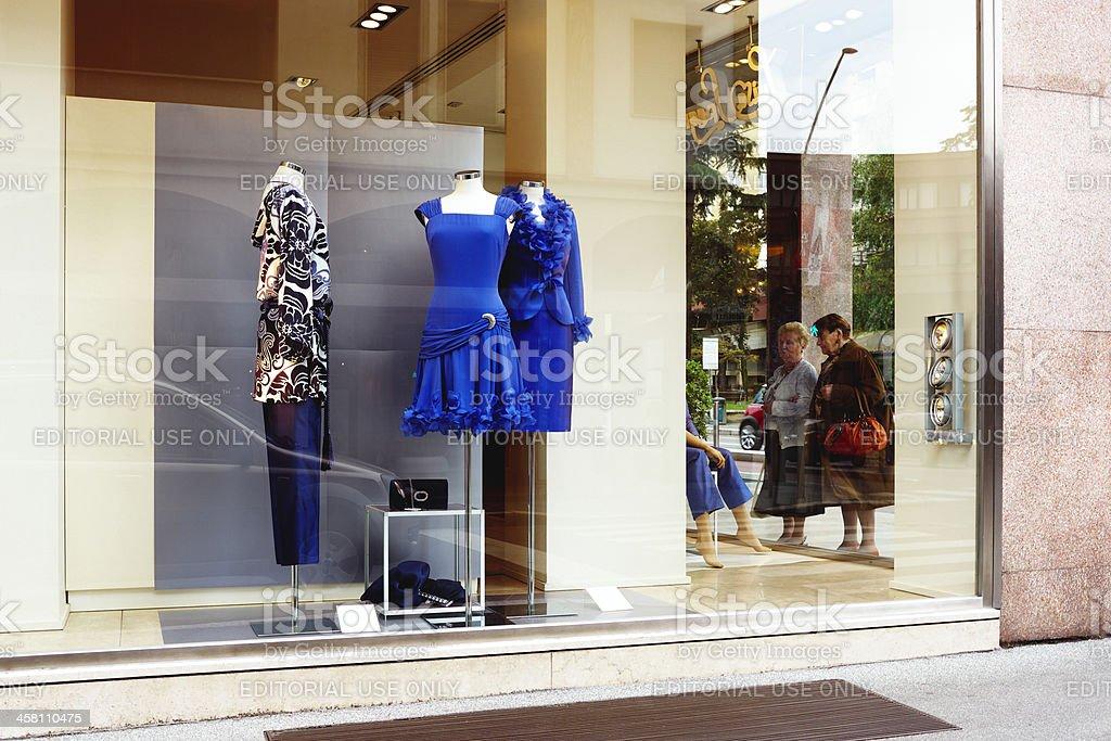 WIndows display. Color Image royalty-free stock photo