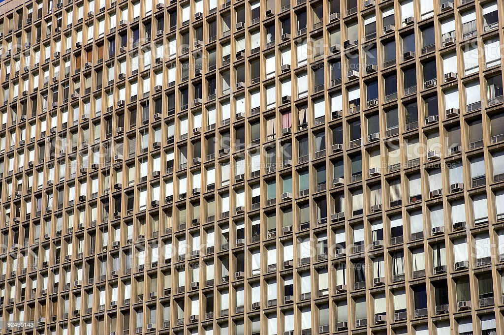Windows in a building royalty-free stock photo