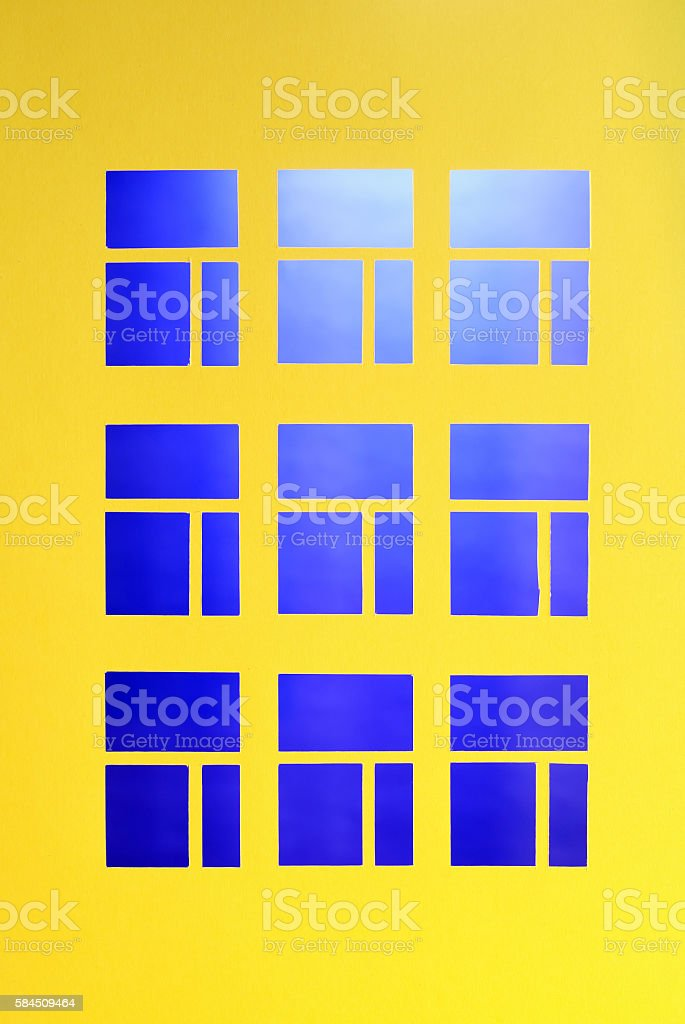 Windows In Paper stock photo