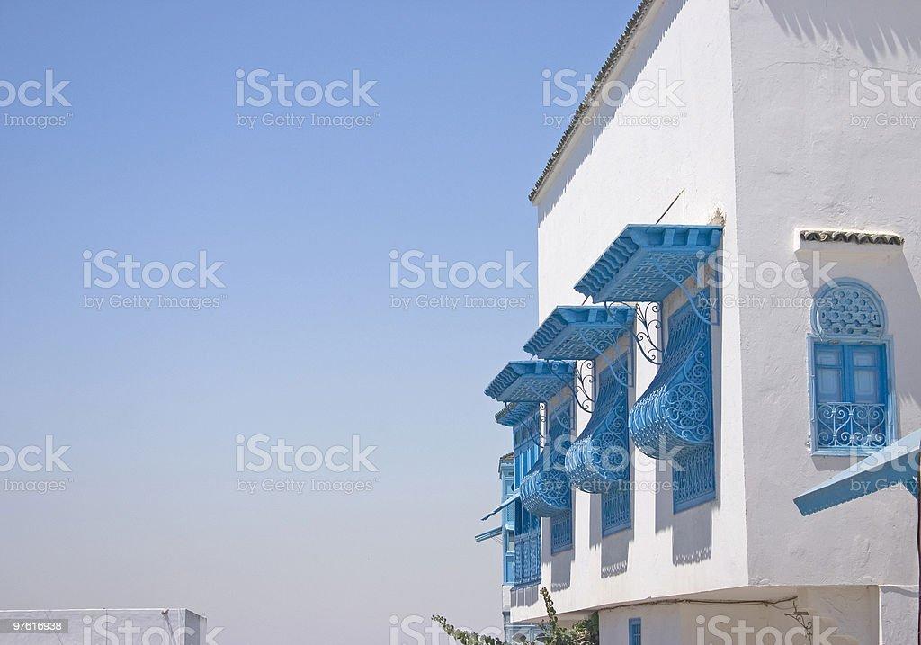 Windows in Sidi Bou Said, Tunisia royalty-free stock photo