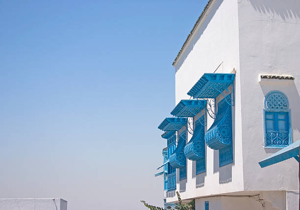 Windows in Sidi Bou Said, Tunisia圖像檔