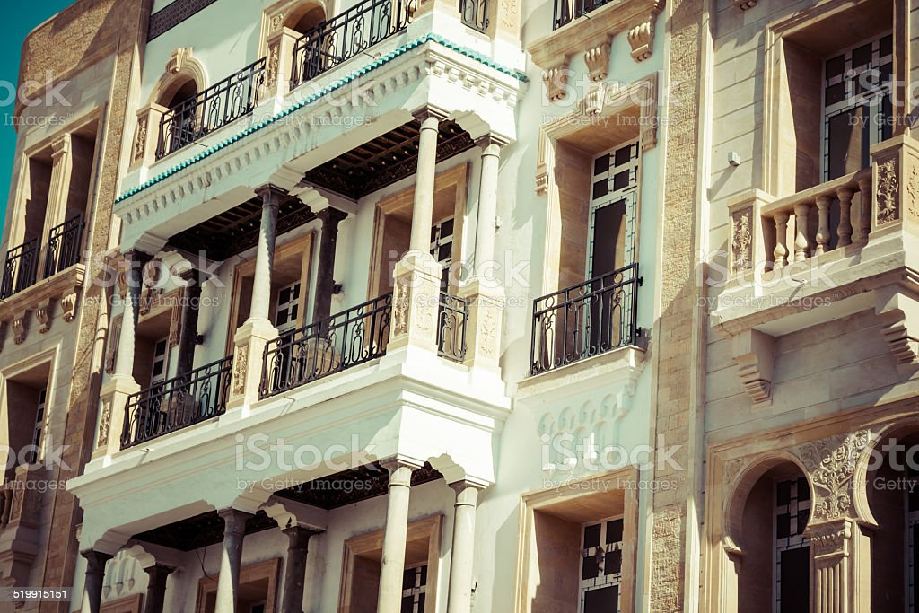 Windows in traditional style.Tunis stock photo