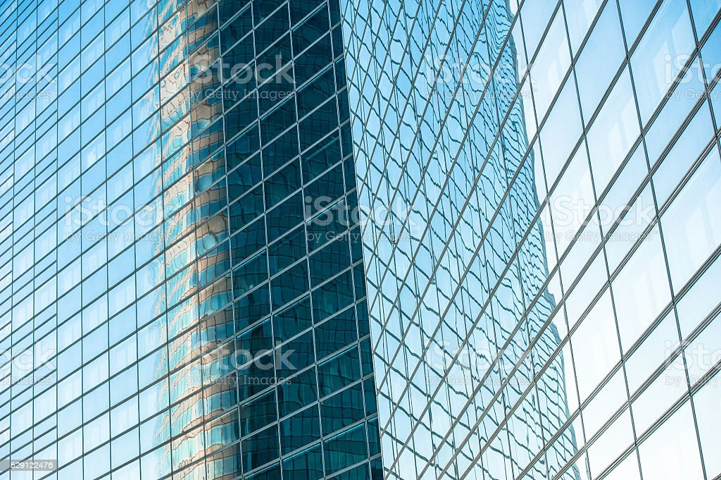 Windows – La Defense Paris, France stock photo