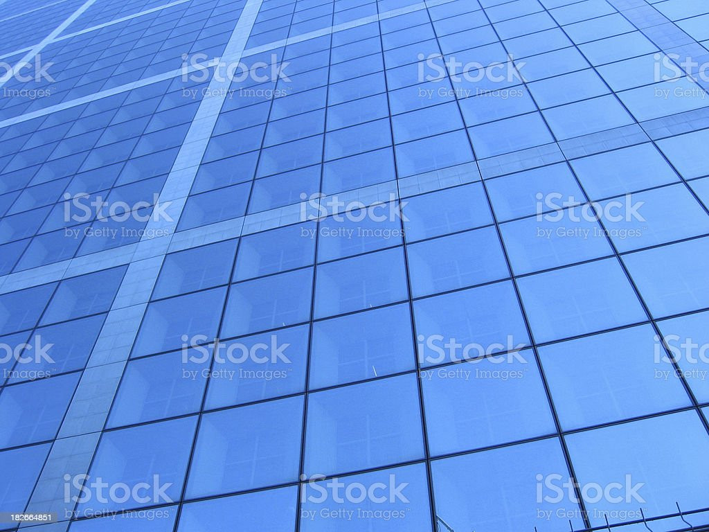 Windows – La Defense Paris stock photo