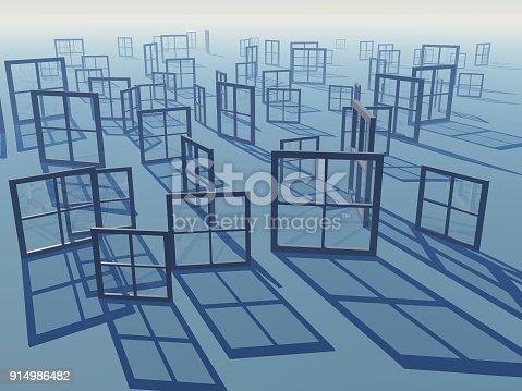 istock Windows Of Business Views Horizon Background 914986482