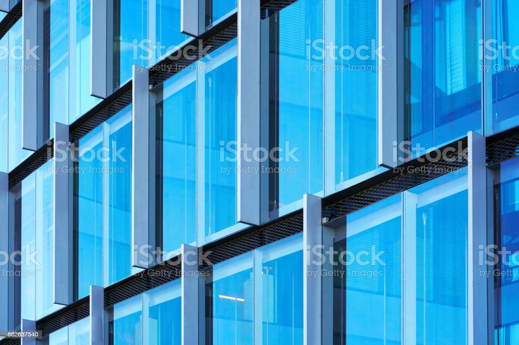 Windows Of Modern Futuristic Glass And Steel Skyscraper Royalty Free Stock Photo
