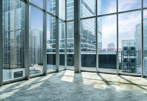 Windows of Skyscraper Business Office in chongqing ,china