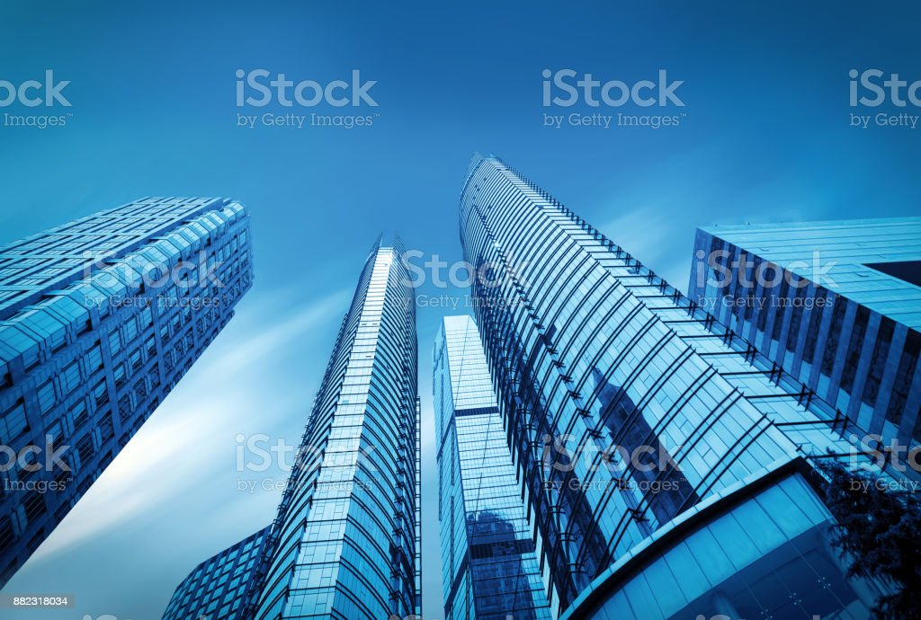 Windows of Skyscraper Business Office in qindao,china royalty-free stock photo