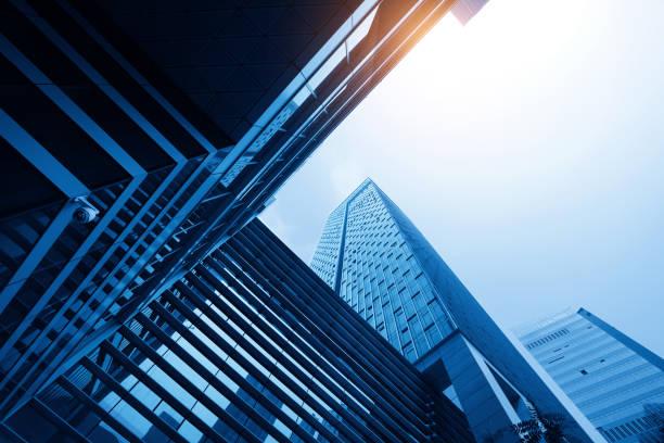 Fenster des Skyscraper Business Office von shenzhen, China – Foto