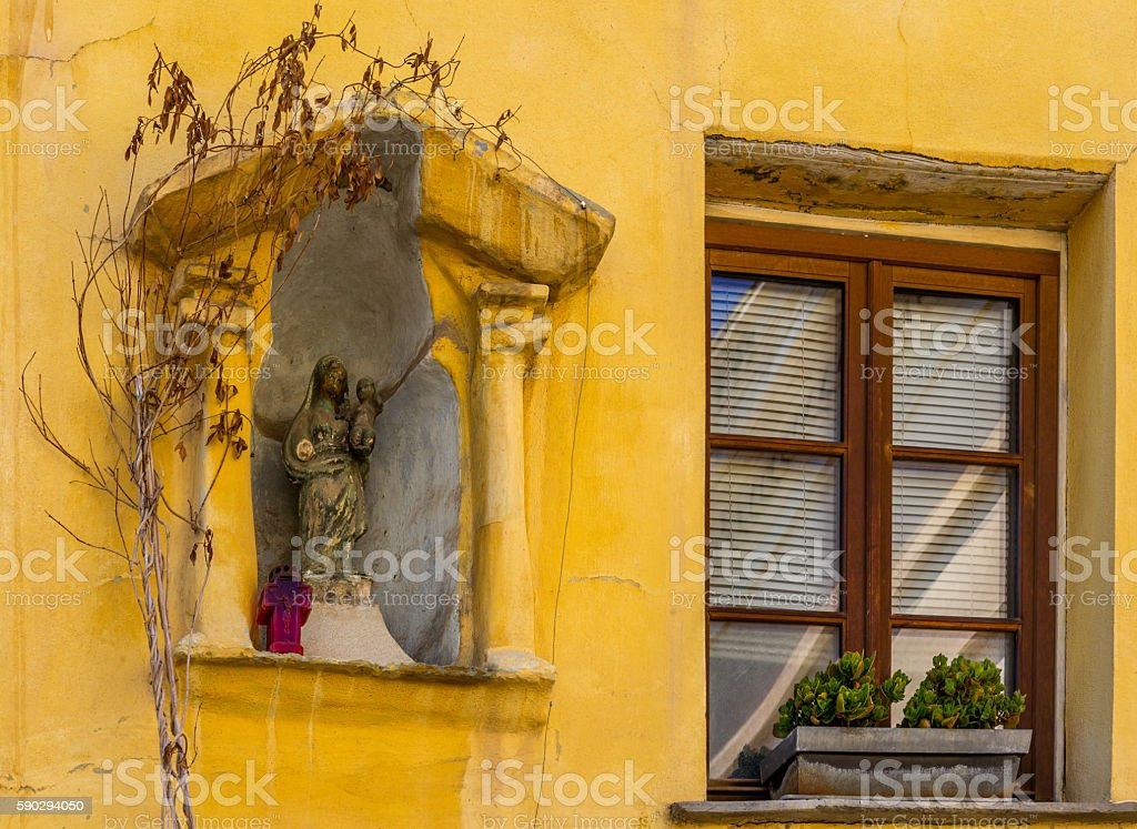 Windows of the buildings in Ajaccio in Corsica - 3 royaltyfri bildbanksbilder