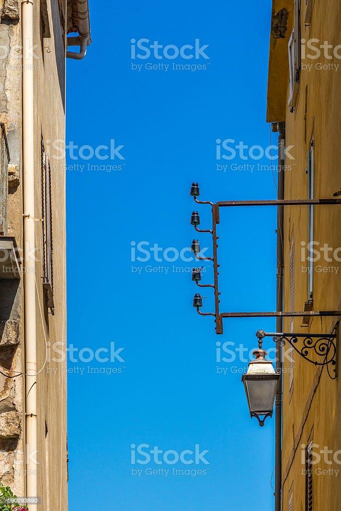 Windows of the buildings in Ajaccio in Corsica - 4 royaltyfri bildbanksbilder