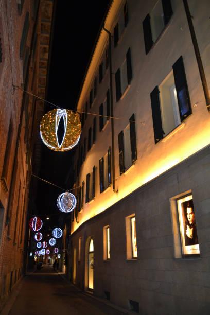 Windows of the Ferragamo fashion boutique for men. stock photo