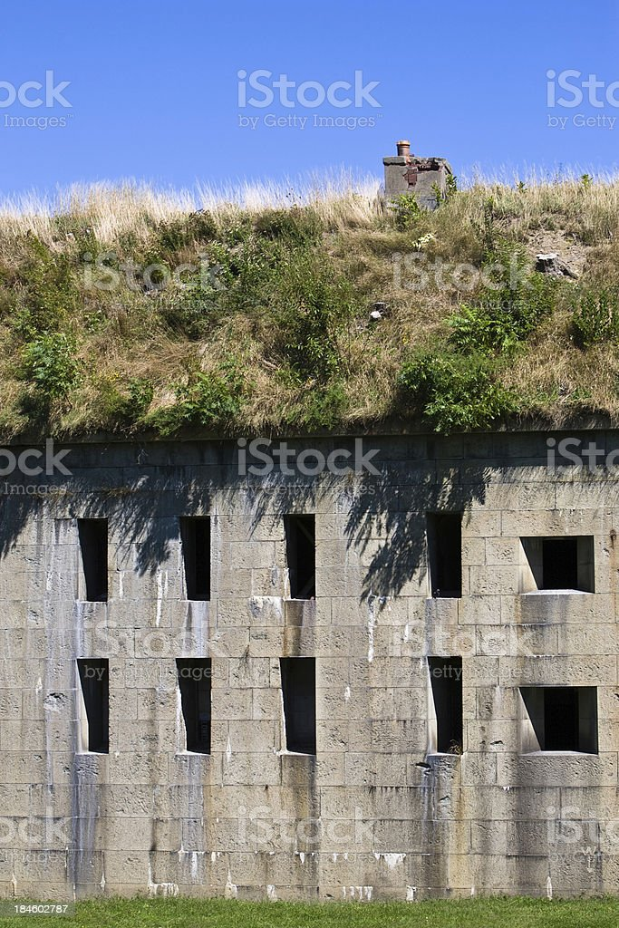 Windows of the Fort royalty-free stock photo