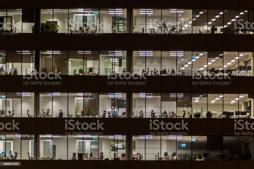 Windows office building. stock photo