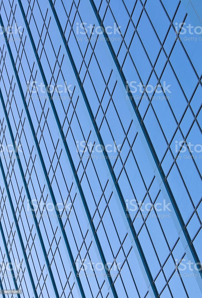 Windows On A Modern Skyscraper Office Block royalty-free stock photo