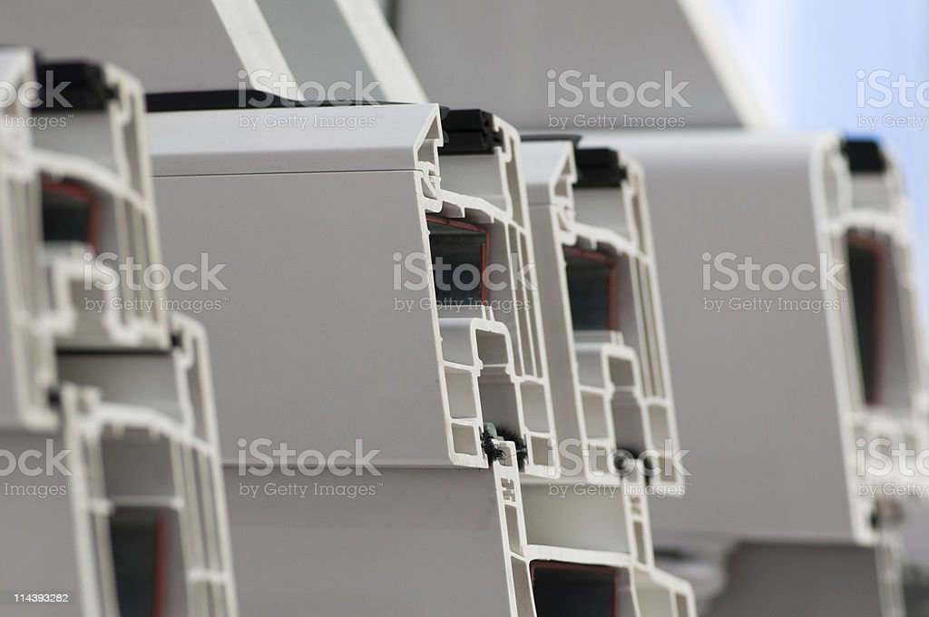 PVC windows royalty-free stock photo