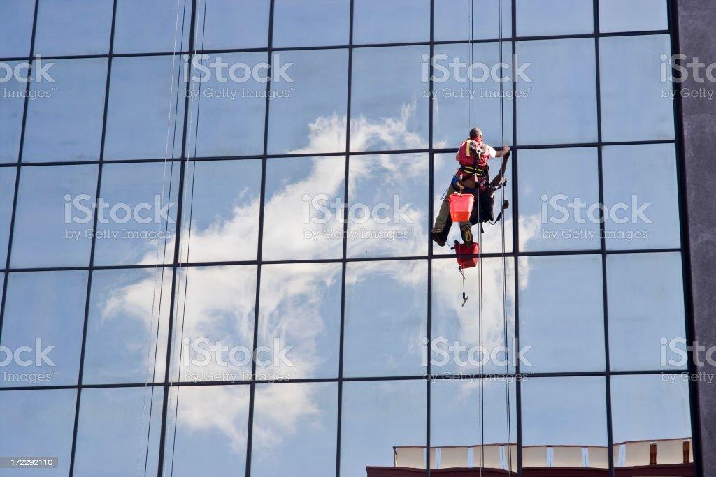 Windows Washer stock photo