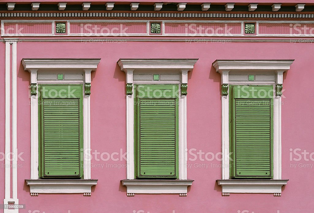 windows with closed shutters royalty-free stock photo