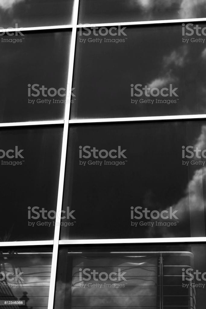 Windows with reflections stock photo