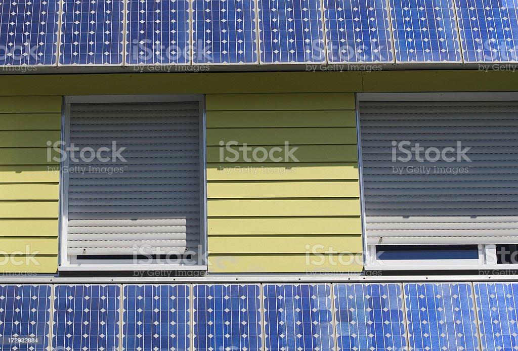 windows with solar panels royalty-free stock photo