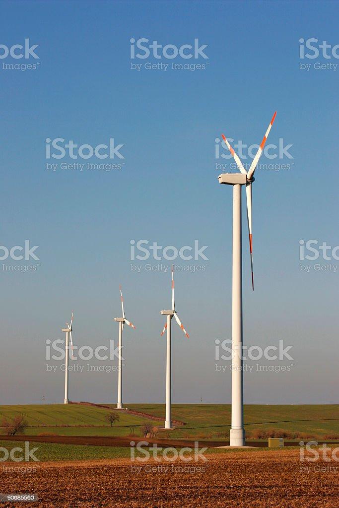 Windpower stock photo