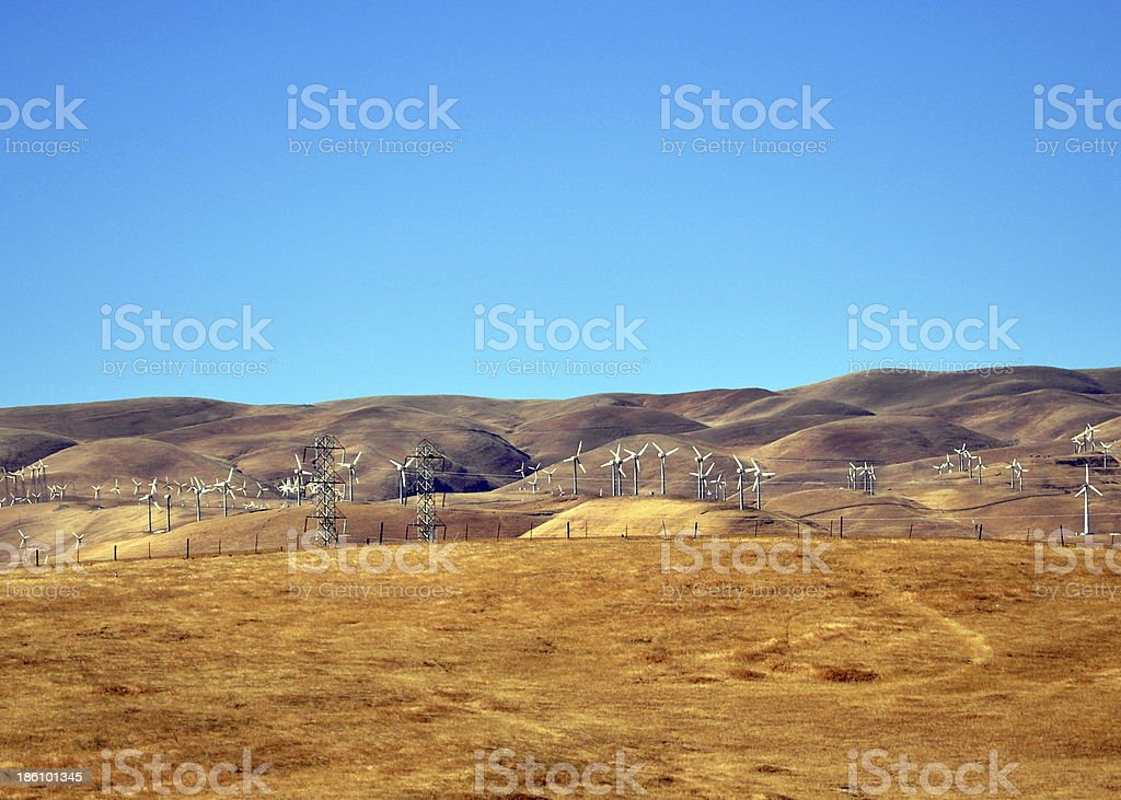 Wind-powered California. royalty-free stock photo