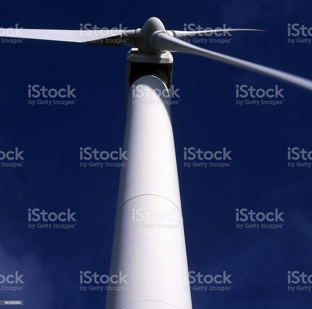 Windpowered Electricity Generator royalty-free stock photo