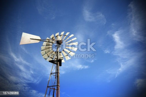 Windpump against blue sky! Note: Polarize filter was used and vignetting applied.