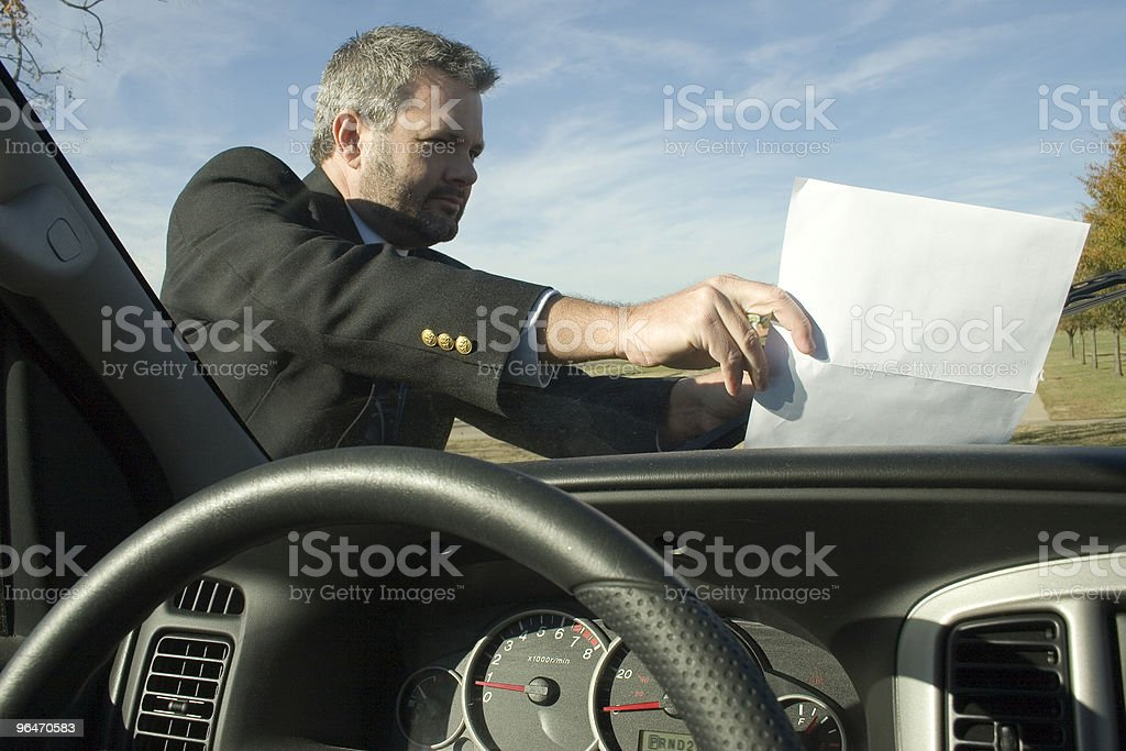 Windshield Flyer royalty-free stock photo