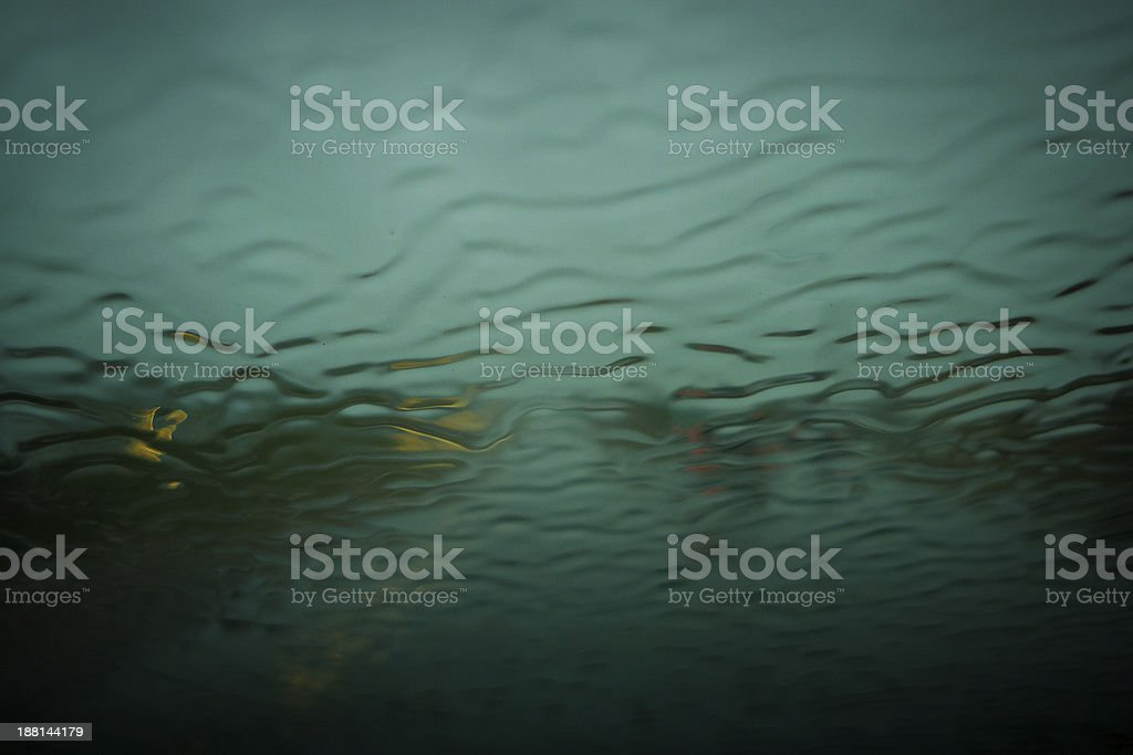 Windshield rain stock photo