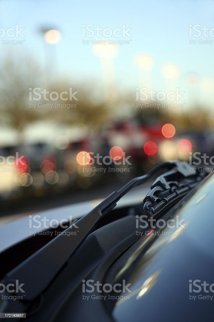 Windshield Wiper Closeup royalty-free stock photo