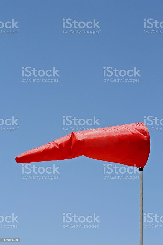 Windsock and clear sky stock photo