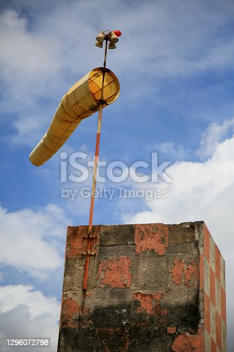 istock windsock in heliport of salvador 1296072798