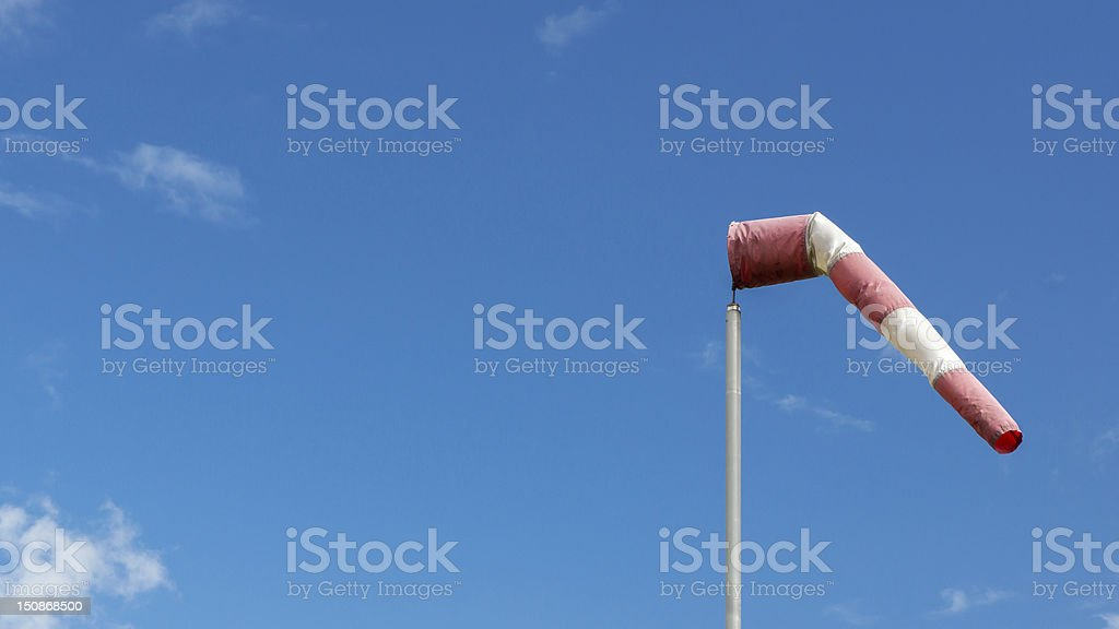 Windsock on a small Airfield in Germany stock photo