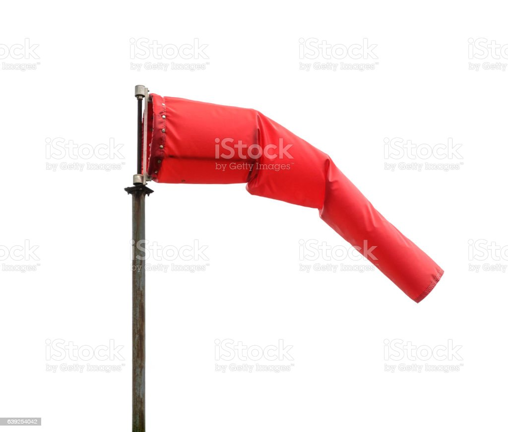 Windsock poiting the position of the wind - foto de acervo