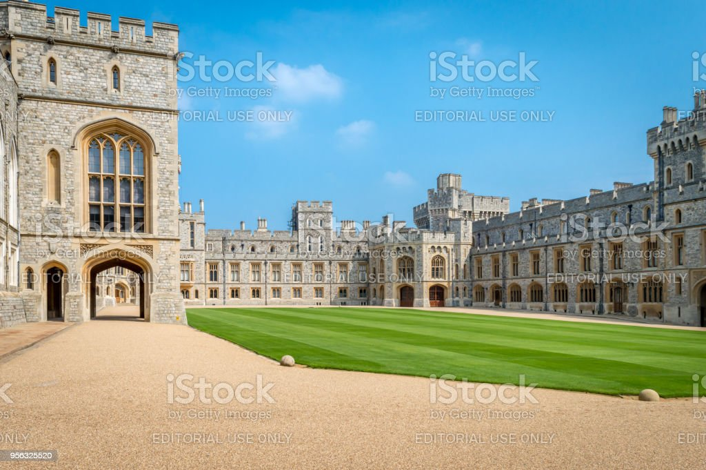 Windsor Castle is a royal residence at Windsor in the English county of Berkshire stock photo