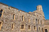London, United Kingdom - May 13, 2019: Windsor castle walls in England, United Kingdom