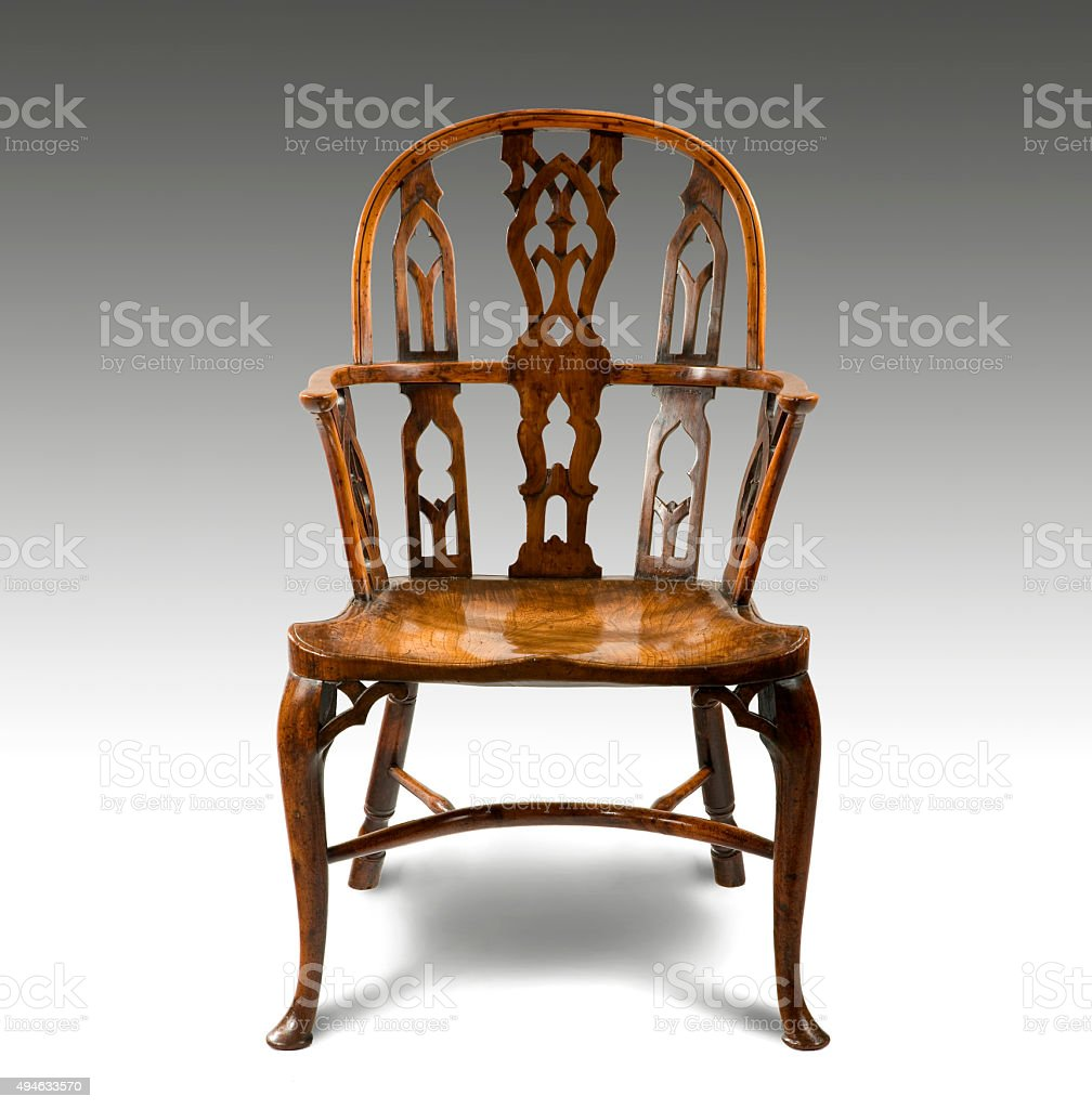 windsor comb back chair stock photo