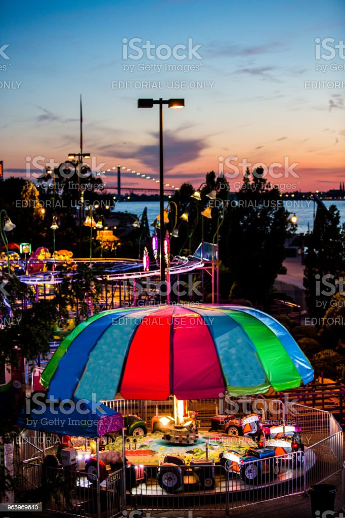 Windsor Summerfest - Royalty-free Amusementsparkritje Stockfoto