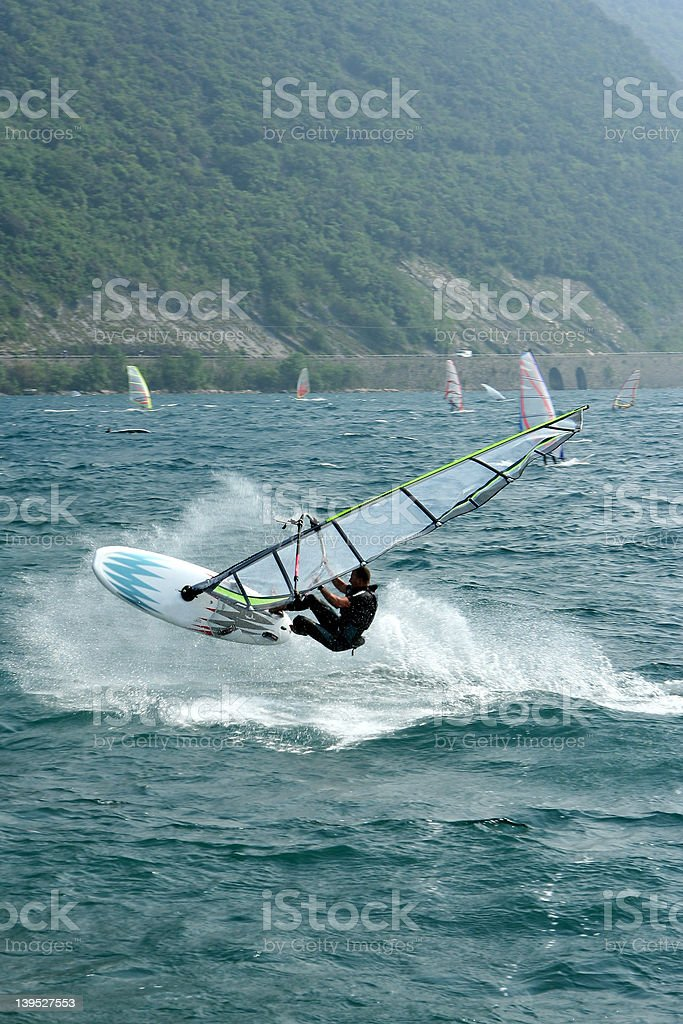 Windsurf Jump Stock Photo Download Image Now Istock