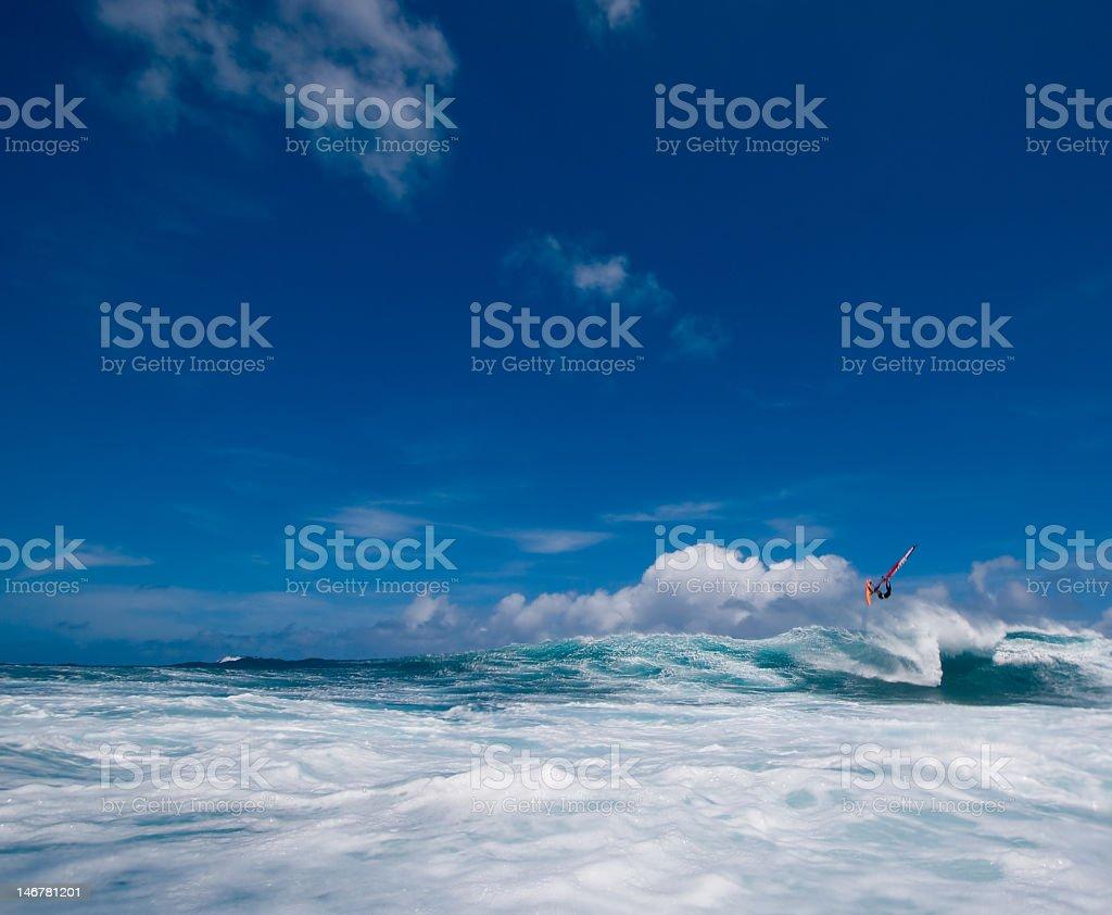 Windsurfer Flying stock photo