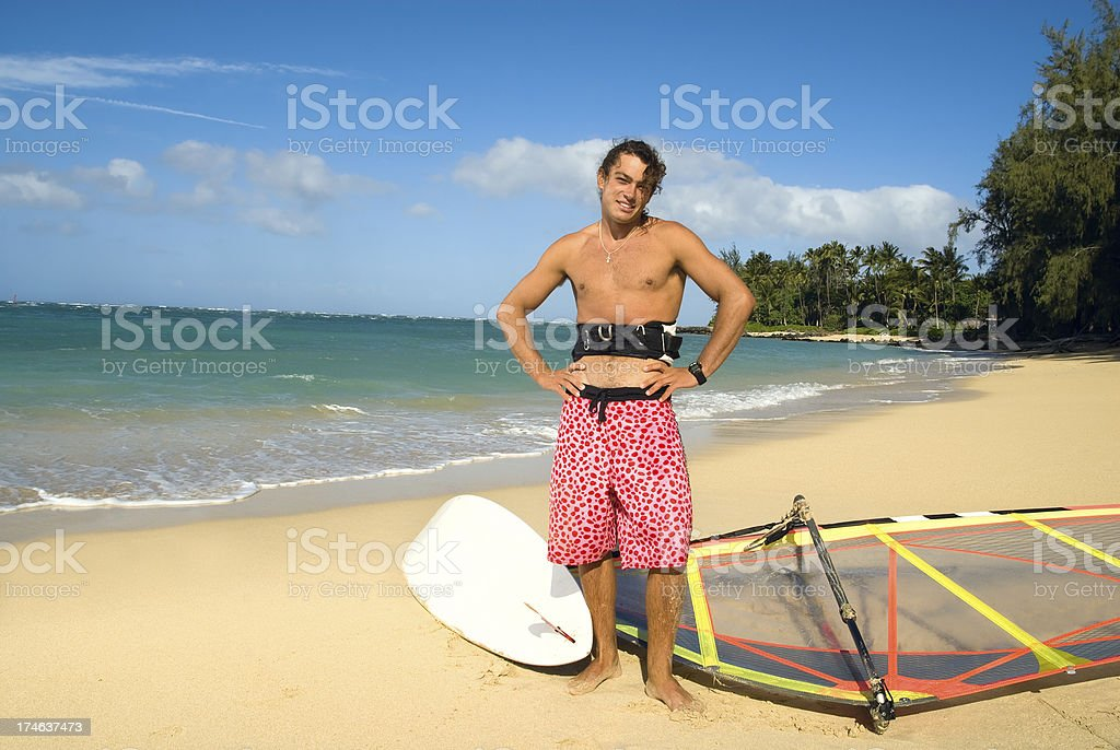 Windsurfer royalty-free stock photo