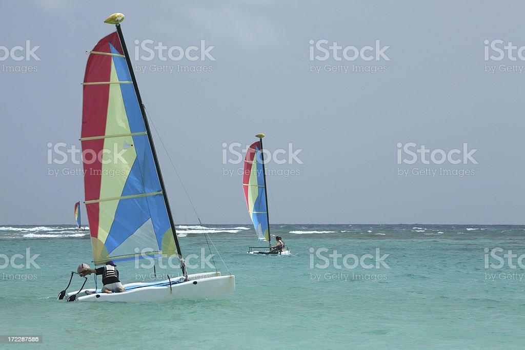 Windsurfers royalty-free stock photo